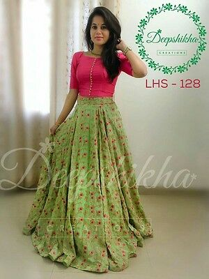 Indian Wedding Designer Lehenga Party Wear Ethnic Pakistani Bridal Lehenga Choli