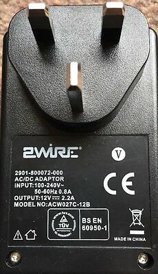 BT 2Wire ACW027C-12B 12v 2.2a Power Supply 2901-800072-000