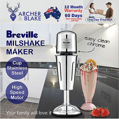 Breville Milkshake Maker Mixer Large Stainless Steel Cup