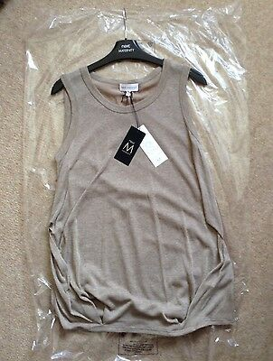 Next Maternity Natural Shell Vest Top Size 10 Summer Smart Casual *BNWT* Was £20