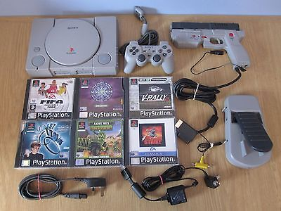 Sony Playstation 1 Ps1 (Pal) Console (Scph-9002) + 6 Game Bundle