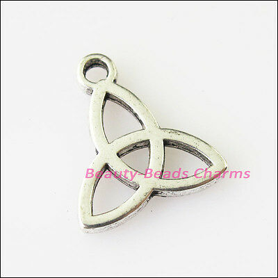 15 New Chinese Knot Connectors Tibetan Silver Tone Charms Pendants 14x15.5mm