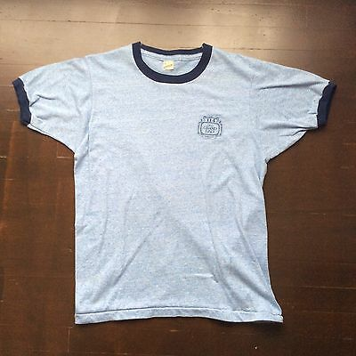 Vintage 114 Old Grand Dad Whiskey Screen Stars Ringer T Shirt Mens L Fits S USA