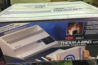 GBC Therm-a-bind System Thermabind 2000-T BINDER BINDING 2000T RARE NEW IN BOX!