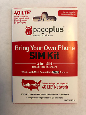 Genuine Page Plus SIM KIT Nano Dual Card 3-in-1 Pageplus 4G LTE Prepaid SameDay
