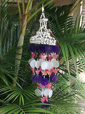 Shell Wind Chime - Shell - Pink butterfly design - Bali - Balinese