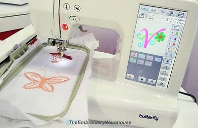 Butterfly Intelligent Sewing/Embroidery Machine, New w/Warranty, Model JX550L-W