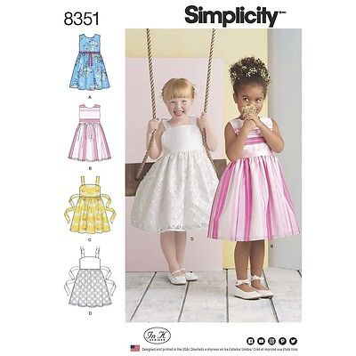 SEWING PATTERN! MAKE Fancy Flower Girl Dress! Size Child 3 To 8 ...