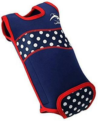 Konfidence Babywarma Wetsuit Polka Dot Blue Red White Baby Wrap Swimming Costume