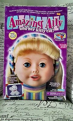 NIP Amazing Ally Doll and Her Kitty Retired Smart Technology Deluxe Tea Party