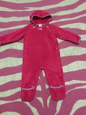 ��Baby Girl The North Face Fleece Bunting One Piece Jacket Sz 12-18 Mths��