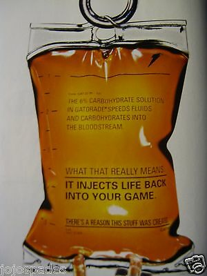 2000 GATORADE Ad 8.5 x 10.5-Injects Life Back  Into Your Game-Original Print Ad