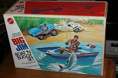 Vintage  Mattel Brand Action Big Jim Boat 'n Buggy Set