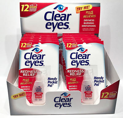 3x Clear Eyes Redness Relief Pack of 3 0.2 FL,OZ ( 6 ml) Pack(12 HRS)