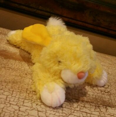 "12"" Vintage Tl Toys Yellow Easter Bunny Rabbit Stuffed Animal Plush Toy Soft"