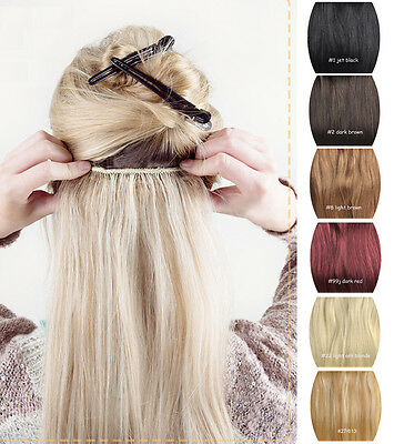 "Premium 20"" Long Thick Clip In Hair Extensions One Piece 100% Remy Human Hair"