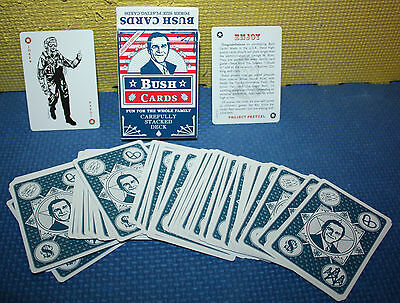 Project Pretzel: George W Bush Poker Size Playing Cards Complete Deck