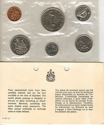 1968 Canada 6 Coin Mint Set, Uncirculated (Can-41)