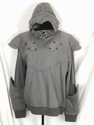 The Official Knight Hoodie Gray Fleeced Lined Cosplay Medieval Men's  XXL
