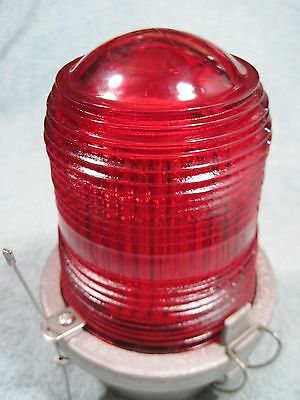 New Usa Made Red Glass Radio Tower Light Safety Anti-Collision Aircraft Beacon