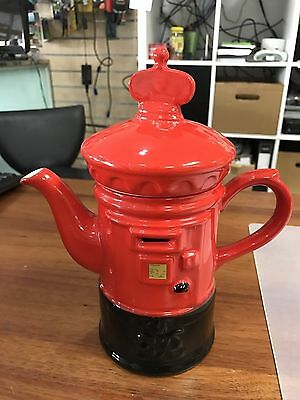 Price Kensington post box Made In England Handpainted Teapot