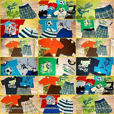 NWT Boys Summer Clothes Lot 4 4T Gymboree Gap Sets Outfits shorts tops New