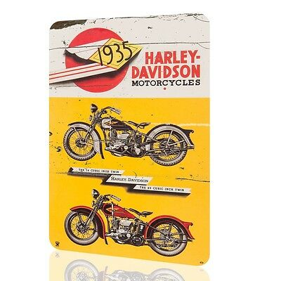 METAL TIN SIGN Harley Davidson 1935 Motorcycles Classic Vintage Poster Rusted