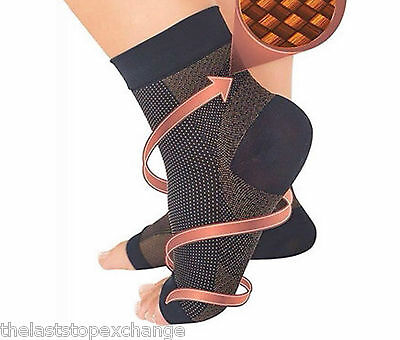 NEW Foot Angel COPPER Compression Sleeve Anti-Fatigue Ankle Swelling Pain Socks