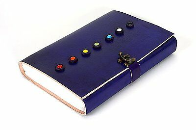 INDO CRAFT Leather 7 Stone Chakra Journal Diary Notebook with Embossed Design 3