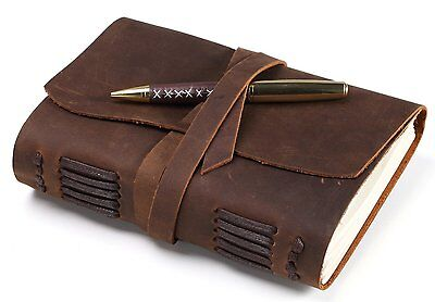 Leather Journal – Handmade Vintage Style Leather Cover Writing Notebooks – 300 –