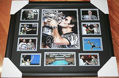 NEW! ROGER FEDERER 2017 Australia Open Champion SIGNED LIMITED EDITION 250
