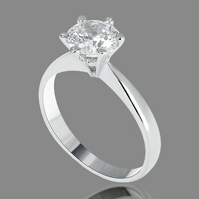 Valentine's 2.20 Ct F/si Enhanced Round Diamond Engagement Ring 14K White Gold