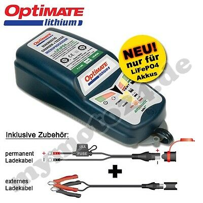 Charger Tecmate OptiMate Lithium, spec. also for LiFePO4 Batteries, SAE