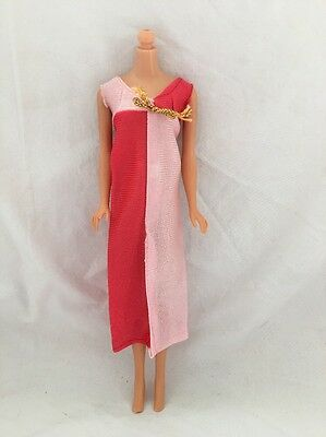 Vintage Barbie Doll Knock Off Clone Outfit PINK & CORAL DRESS