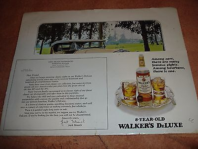 Vintage Autos -  From 1970s Walkers DeLuxe Bourbon Ad-8 Plate Portfolio   (1126)