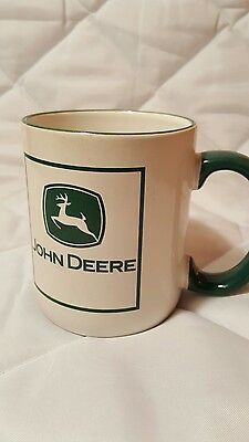 White Signature John Deere Tractor Coffee Mug Cup Wisconsin