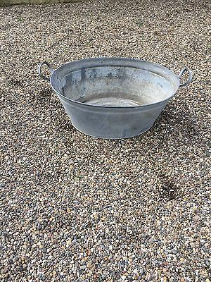 Vintage Tin Washtub