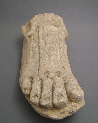ANCIENT ROMAN MARBLE RIGHT FOOT Ex. Gustave Jequier (1868-1946)