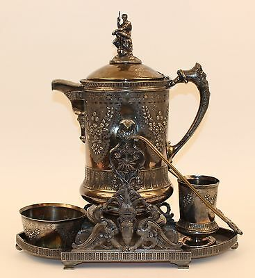 Fantastic Rogers Silverplate Tilting Water Pitcher On Stand Neptune, Griffins
