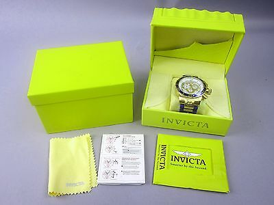 Invicta Men's 10619 Corduba Chronograph MOP Dial Blue Band NEW in Box 52mm