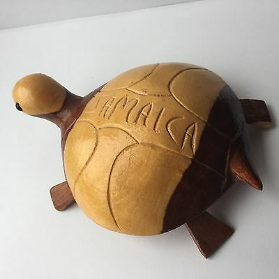 Wooden Carved Jamaica Turtle Multi Colored