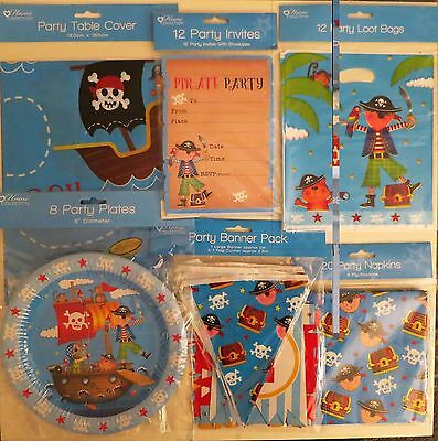 Pirate Pirates Birthday Parties Supplies Tableware Balloons Decorations Invites