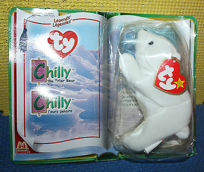 Ty Legends Chilly the Polar Bear from McDonalds in Package