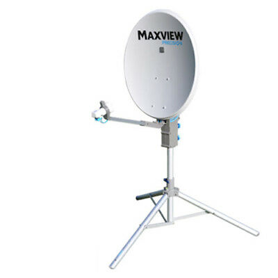 Maxview 75cm Precision Portable Satellite Dish with Tripod Stand and Twin LNB