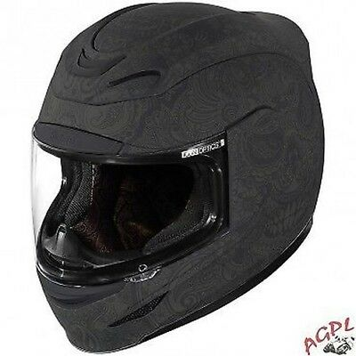 Helm Icon - Airmada Chantilly-Schwarz Rubatone M-01017069