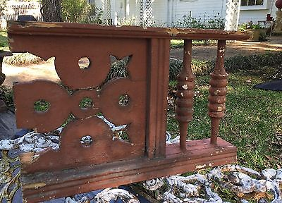 ANTIQUE RAILING  w BALUSTERS & DESIGN 1800s ARCHITECTURAL SALVAGE VICTORIAN 21""