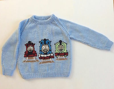 Hand Knitted Thomas and Friends Train Sweater for Kids Children Toddler Boys