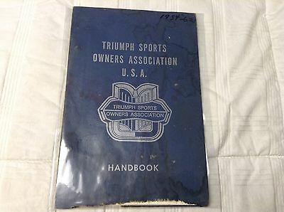 Triumph Sports Owners Association USA handbook....1954-1962