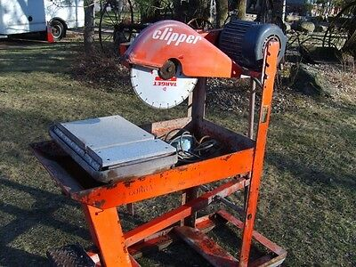 Norton clipper block brick paver wet dry saw