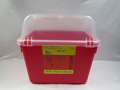 BD Sharps Collector 8 QT w/ Clear Top 305344 *Brand New & Free Shipping*
